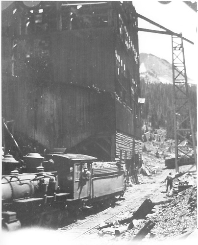 3/4 partial fireman's-side view of C-19 #343 at the Floresta Breaker.<br /> D&amp;RGW  Floresta, CO