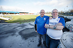 Rangers fans Jim Spiers and Kenny McMillan make the trip from Aberdeen to Cowdenbeath to find the game has been cancelled due to frost and ice