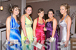 BELLS OF THE BALL: Enjoying the Rathmore Presentation debs at the Earl of Desmond hotel on Friday l-r: Caitriona O'Sullivan, Megan Cronin, Marion Dineen, Elaine Cronin and Aoife Sheehan.
