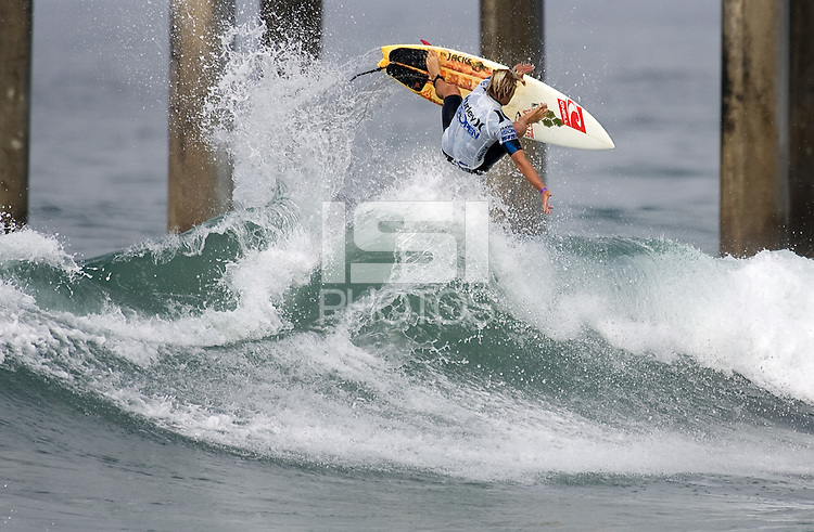 Tanner Gudauskas. 2009 ASP WQS 6 Star US Open of Surfing in Huntington Beach, California on July 23, 2009. ..
