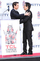 HOLLYWOOD, CA - DECEMBER 03: Tom Cruise, Ben Stiller attending the Ben Stiller Hand/Footprint Ceremony held at TCL Chinese Theatre on December 3, 2013 in Hollywood, California. (Photo by David Acosta/Celebrity Monitor)