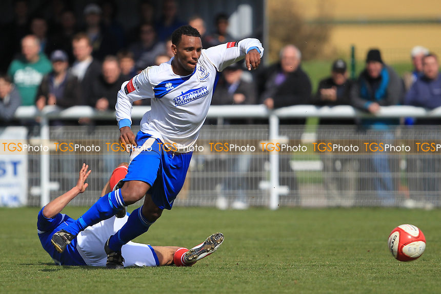 - Enfield Town vs Leiston - Ryman League Division One North Football at the Queen Elizabeth II Stadium - 21/04/12 - MANDATORY CREDIT: Simon Roe/TGSPHOTO - Self billing applies where appropriate - 0845 094 6026 - contact@tgsphoto.co.uk - NO UNPAID USE.