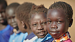 Girls in a primary school in Bunj, South Sudan, sponsored by Jesuit Relief Service. The community is host to more than 130,000 refugees from the Blue Nile region of Sudan. JRS, with support from Misean Cara, provides educational and psycho-social services to both refugees and the host community.