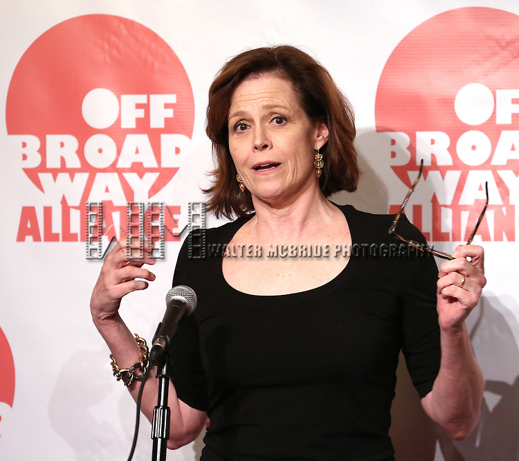 Sigourney Weaver  attending The 3rd Annual Off Broadway Alliance Awards Reception at Sardi's Restaurant in New York City on June 18, 2013