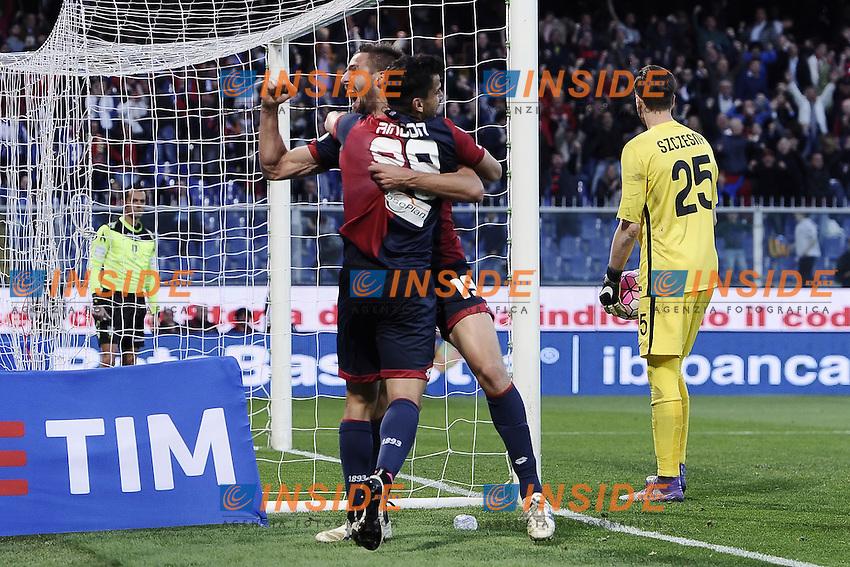 esultanza gol Leonardo Pavoletti Genoa Goal celebration 2-1 <br /> Genova 02-05-2016 Football Calcio Serie A 2015/2016  Genoa - AS Roma foto Image Sport/Insidefoto
