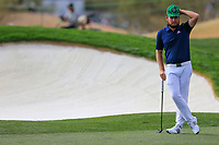 Tyrrell Hatton (ENG) on the 9th fairway during the 3rd round of the Waste Management Phoenix Open, TPC Scottsdale, Scottsdale, Arisona, USA. 02/02/2019.<br /> Picture Fran Caffrey / Golffile.ie<br /> <br /> All photo usage must carry mandatory copyright credit (© Golffile | Fran Caffrey)