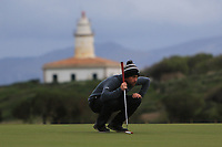 Robin Sciot-Siegrist (FRA) on the 17th green during Round 4 of the Challenge Tour Grand Final 2019 at Club de Golf Alcanada, Port d'Alcúdia, Mallorca, Spain on Sunday 10th November 2019.<br /> Picture:  Thos Caffrey / Golffile<br /> <br /> All photo usage must carry mandatory copyright credit (© Golffile | Thos Caffrey)