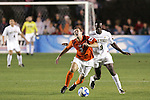 14 December 2007: Virginia Tech's Georg Zehender (GER) (3) is fouled by Wake Forest's Marcus Tracy (9). The Wake Forest University Demon Deacons defeated the Virginia Tech University Hokies 2-0 at SAS Stadium in Cary, North Carolina in a NCAA Division I Men's College Cup semifinal game.