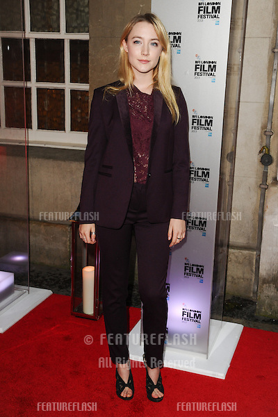 Saoirse Ronan arrives for the bfi London Film Festival Awards 2013 at Banquetting House, London. 19/10/2013 Picture by: Steve Vas / Featureflash