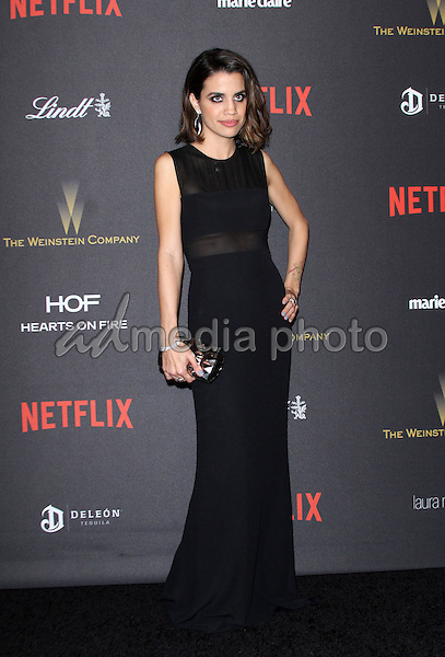 10 January 2016 - Los Angeles, California - Natalie Morales. 2016 Weinstein Company & Netflix Golden Gloves After Party held at the Beverly Hilton Hotel. Photo Credit: AdMedia