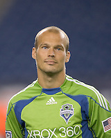 Seattle Sounders midfielder Freddie Ljungberg (10). The New England Revolution defeated Seattle Sounders, 2-1, at Gillette Stadium on September 26, 2009.
