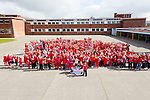 Glow Hearts 4 Crumlin -  CBS primary School supporting the wear Red in aid of Crumlin on Thursday
