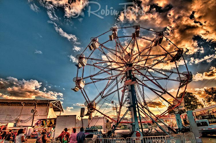 Ferris wheel at the Montgomery County Fair in Dayton Ohio.