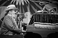 Dr. John performing on the Acura Stage at the 2011 New Orleans Jazz & Heritage Festival at the Fair Grounds Race Course in New Orleans, LA. USA.