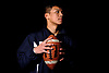 Donovan Pham, quarterback of Great Neck's football team, poses for a portrait in the backyard of his home the evening of Tuesday, Dec. 11, 2018.