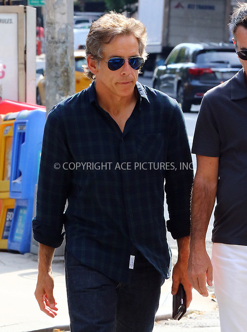 www.acepixs.com<br /> <br /> September 8 2016, New York City<br /> <br /> Actor Ben Stiller walks in Soho on September 8 2016 in New York City<br /> <br /> By Line: Zelig Shaul/ACE Pictures<br /> <br /> <br /> ACE Pictures Inc<br /> Tel: 6467670430<br /> Email: info@acepixs.com<br /> www.acepixs.com
