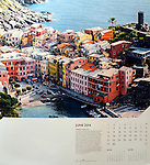 """The image of Vernazza in Cinque Terra represents June 2014 in the corporate calender """"On the Wing"""", an aerial tour across the globe by Allan + Bertram"""
