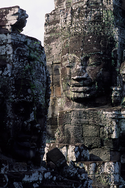 CAMBODIA, ANGKOR, ANGKOR THOM, BAYON TEMPLE, FACES OF AVALOKITECVARA