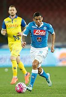 Miguel Allan  during the  italian serie a soccer match,between SSC Napoli and Chievo Verona      at  the San  Paolo   stadium in Naples  Italy , March 06, 2016