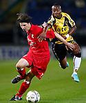 Nederland, Breda, 31 oktober 2012.KNVB Beker.Seizoen 2012-2013.NAC Breda-HBS.Jochem Hendriks (l.) van HBS en Elson Hooi NAC Breda strijden om de bal.