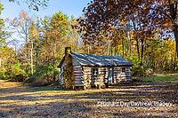 63895-16608 Cabin at Log Cabin Village in fall Kinmundy IL