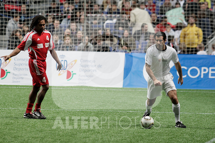 BENEFICIARY MATCH; 'Match for Ilusion' organized by  Iker Casillas & Figo. Louis Figo and Karembeu......Photo: MAC / ALFAQUI