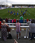 Hartlepool United 0 Sunderland 3, 20/07/2016. Victoria Park, Pre Season Friendly. Sunderland fans watch their team warm up. Photo by Paul Thompson.