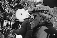 Summer 1982, Los Angeles, California, USA. American director Sam Peckinpah on the set of his movie The Osterman Weekend, based on the novel by Robert Ludlum.
