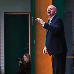 Södertälje 2013-02-23 Basket Basketligan , Södertälje Kings - Sundsvall Dragons :  .Södertälje Kings coach Vedran Bosnic gestikulerar .(Byline: Foto: Kenta Jönsson) Nyckelord:  porträtt portrait