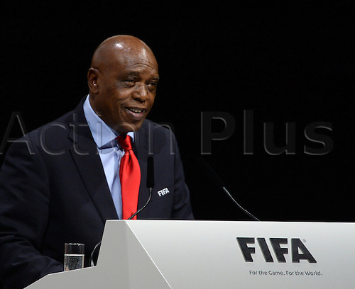 Southafrican Tokyo Sexwale, candidate for FIFA President, withdrew from his candidacy during his adress to the audience during the Extraordinary FIFA Congress 2016 at the Hallenstadion in Zurich, Switzerland, 26 February 2016. The Extraordinary FIFA Congress is being held in order to vote on the proposals for amendments to the FIFA Statutes and choose the new FIFA President.