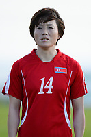 20190227 - LARNACA , CYPRUS : North Korean midfielder Ri Hyang-sim pictured during a women's soccer game between Korea DPR and Czech Republic , on Wednesday 27 February 2019 at the GSZ Stadium in Larnaca , Cyprus . This is the first game in group A for both teams during the Cyprus Womens Cup 2019 , a prestigious women soccer tournament as a preparation on the Uefa Women's Euro 2021 qualification duels and the Fifa World Cup France 2019. PHOTO SPORTPIX.BE | STIJN AUDOOREN