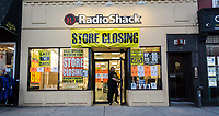 A RadioShack store in Hoboken in New Jersey on Tuesday, May 16, 2017 . After filing a second time for Chapter 11 bankruptcy protection RadioShack will close 552 stores, roughly 36% of its locations. (© Richard B. Levine)