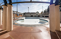 The new pool of the De Mandel Aquatic Center at Occidental College, Dec. 12, 2019.<br /> (Photo by Marc Campos, Occidental College Photographer)