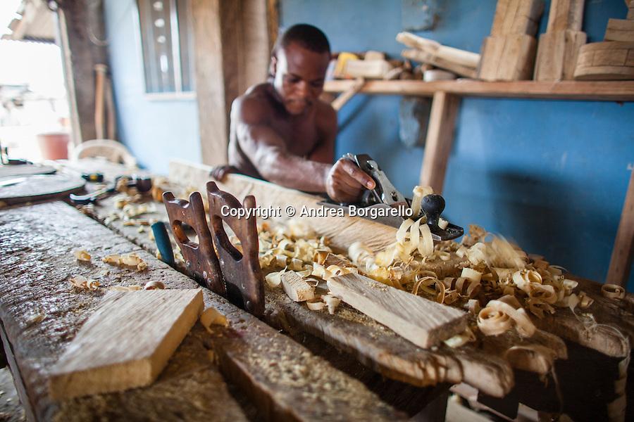 Ghana, carpenter at work