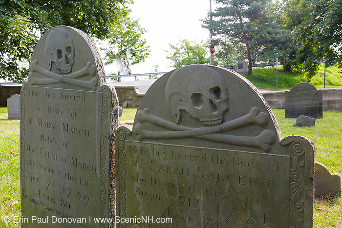 Point of Graves Cemetery lin Portsmouth, New Hampshire USA.