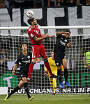 12.08.2018, Commerzbank - Arena, Frankfurt, GER, Supercup, Eintracht Frankfurt vs FC Bayern M&uuml;nchen , <br />DFL REGULATIONS PROHIBIT ANY USE OF PHOTOGRAPHS AS IMAGE SEQUENCES AND/OR QUASI-VIDEO.<br />im Bild<br />Lucas Torro (Frankfurt), Javi Mart&iacute;nez (M&uuml;nchen)<br /> <br /> Foto &copy; nordphoto / Bratic