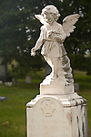 Angel headstone, St. Wenceslaus Church, Netolice now Geranium, Valley Co.