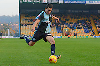 Wycombe Wanderers Luke O'Nien prepares to cross into the Mansfield Town penalty area during the Sky Bet League 2 match between Mansfield Town and Wycombe Wanderers at the One Call Stadium, Mansfield, England on 31 October 2015. Photo by Garry Griffiths.