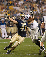 22 September 2007: Pitt defensive lineman Chris McKillop..The Connecticut Huskies defeated the Pitt Panthers 34-14 on September 22, 2007 at Heinz Field in Pittsburgh, Pennsylvania.