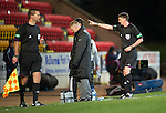 St Johnstone v Hibs..28.11.12      SPL.Steve Lomas is sent to the stands by Craig Thomson.Picture by Graeme Hart..Copyright Perthshire Picture Agency.Tel: 01738 623350  Mobile: 07990 594431