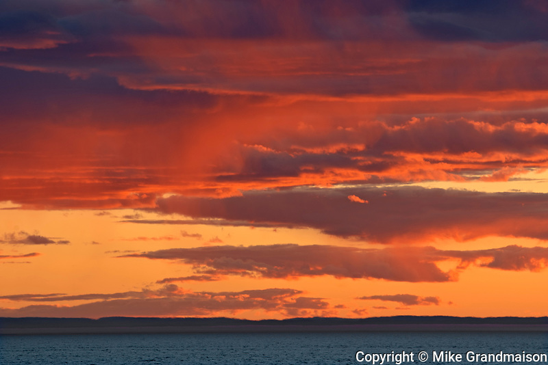 Sunset over the Gulf of St. Lawrence<br />