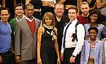 Judson Mills and Deborah Cox with ensemble cast during the North American Premiere presentation of 'The Bodyguard' at The New 42nd Street Studios on November 10, 2016 in New York City.