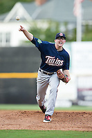 Elizabethton Twins starting pitcher Tyler Beardsley (11) in action against the Pulaski Yankees at Calfee Park on July 25, 2016 in Pulaski, Virginia.  The Twins defeated the Yankees 6-1.  (Brian Westerholt/Four Seam Images)