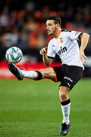 1st February 2020; Mestalla, Valencia, Spain; La Liga Football,Valencia versus Celta Vigo; Florenzi of Valencia controls a high ball