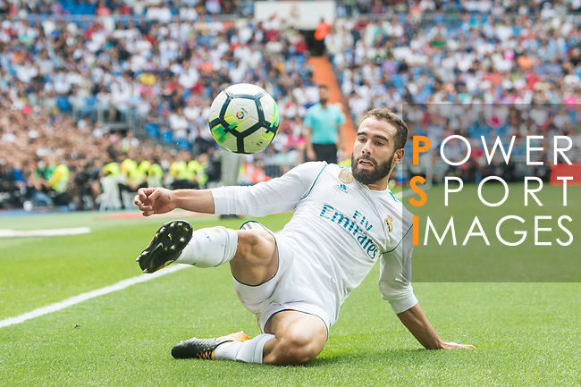 Daniel Carvajal Ramos of Real Madrid in action during the La Liga match between Real Madrid and Levante UD at the Estadio Santiago Bernabeu on 09 September 2017 in Madrid, Spain. Photo by Diego Gonzalez / Power Sport Images