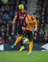Wolverhampton Wanderers' Matt Doherty (right) battles with Bournemouth's Nathan Ake (right) <br /> <br /> Photographer David Horton/CameraSport<br /> <br /> The Premier League - Bournemouth v Wolverhampton Wanderers - Saturday 23rd November 2019 - Vitality Stadium - Bournemouth<br /> <br /> World Copyright © 2019 CameraSport. All rights reserved. 43 Linden Ave. Countesthorpe. Leicester. England. LE8 5PG - Tel: +44 (0) 116 277 4147 - admin@camerasport.com - www.camerasport.com