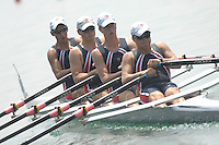 Beijing, CHINA, USA JM4X,  Bow Gregory MARGARIAN, Jason KOCH, Kynan REELICK, Benjamin LUDLOW, during the  2007. FISA Junior World Rowing Championships Shunyi Water Sports Complex. Wed. 08.08.2007  [Photo, Peter Spurrier/Intersport-images]..... , Rowing Course, Shun Yi Water Complex, Beijing, CHINA,