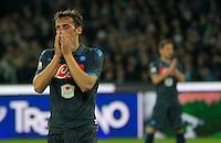 Manolo Gabbianini durante l'incontro di ritorno della semifinale  Tim Cup tra     Napoli - Lazio allo  Stadio San Paolo  di Napoli ,08 Aprile  2015