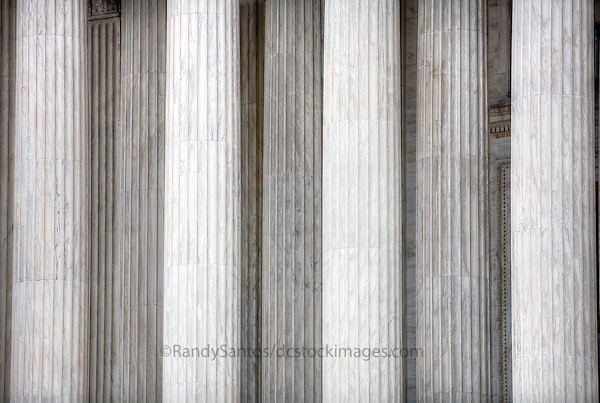 """Supreme Court of the United States.Washington DC Photography US Supreme Court   Washington DC<br /> The Supreme Court building, located on Capitol Hill in Washington DC,  is the seat of the Supreme Court of the United States. It is situated in Washington, D.C one block east of the United States Capitol.  Architectural detail of the west façade includes striking columns and bears the motto """"Equal Justice Under Law,"""".  A national icon and popular tourist attraction in Washington DC."""