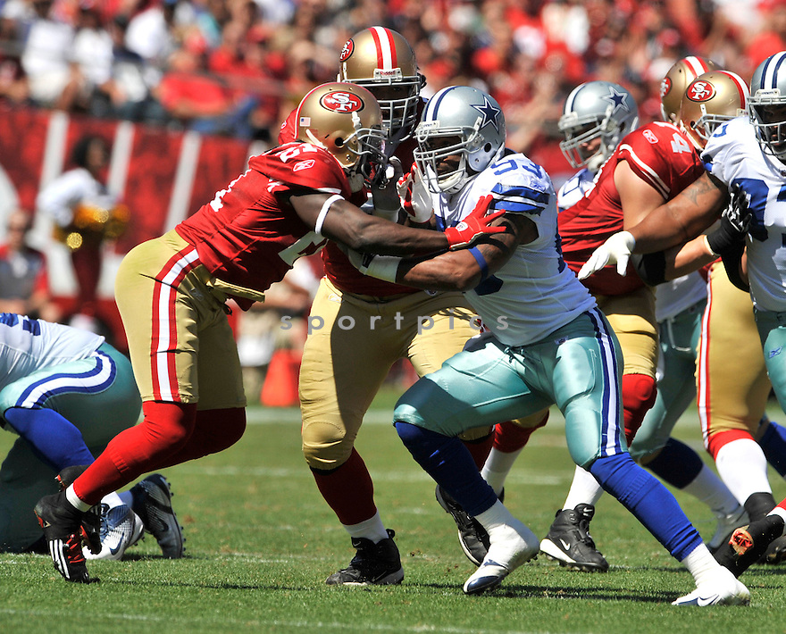 JASON HATCHER, of the Dallas Cowboys, in action during the Cowboy's game against the 49ers on September 18, 2011 at Candlestick Park in San Francisco, CA. The Cowboys beat the 49ers 27-24 in OT.